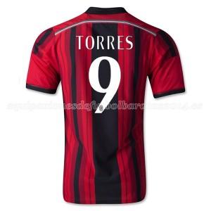 Camiseta nueva del AC Milan 2014/2015 Equipacion Torres Primera