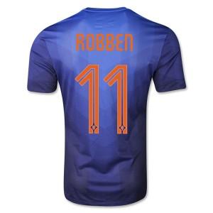 Camiseta del Robben Holanda de la Seleccion Segunda WC2014