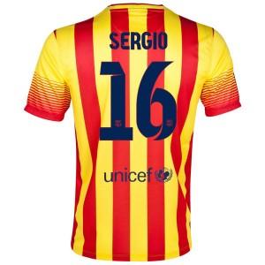 Camiseta nueva Barcelona Sergio Segunda 2013/2014