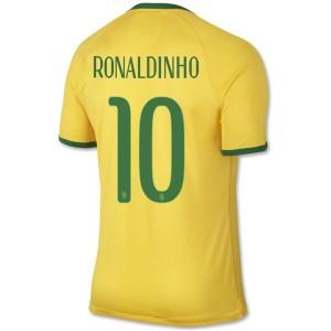 Camiseta del Ronaldinho Brasil de la Seleccion Primera WC2014