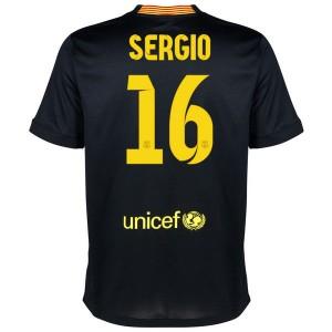 Camiseta nueva Barcelona Sergio Equipacion Tercera 2013/2014