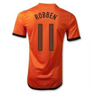 Camiseta de Holanda de la Seleccion 2012/2014 Primera Robben