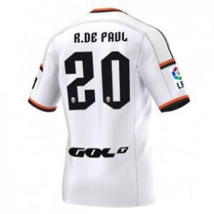 Camiseta nueva del Valencia 2014/2015 Equipacion Rodrigo Paul Primera