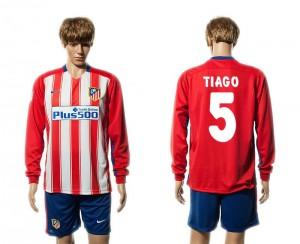 Camiseta Atletico Madrid 5# Primera Manga Larga 15/16