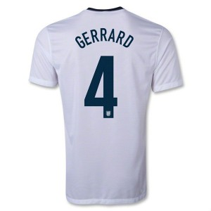 Camiseta nueva del Inglaterra de la Seleccion 2013/2014 Gerrard Primera