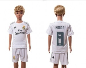 Niños Camiseta del 8 Real Madrid Home 2015/2016