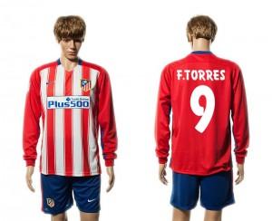 Camiseta Atletico Madrid 9# Primera Manga Larga 15/16