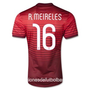 Camiseta Portugal de la Seleccion R.Meireles Primera 2013/2014