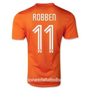 Camiseta Holanda de la Seleccion Robben Primera WC2014