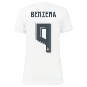 Camiseta nueva del Real Madrid 2015/2016 Equipacion BENZEMA Mujer Primera