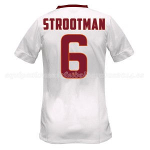 Camiseta del Strootman AS Roma Segunda Equipacion 2014/2015