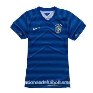 Mujer Camiseta del Brasil de la Seleccion Segunda WC2014
