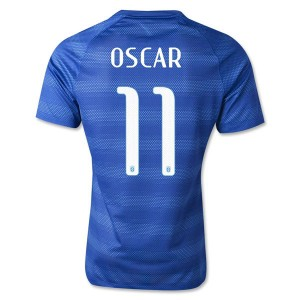 Camiseta nueva Brasil de la Seleccion Oscar Segunda WC2014