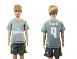 Niños Camiseta del 9 Real Madrid Away 2015/2016