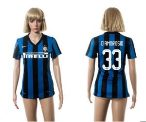 Camiseta de Inter Milan 2015/2016 33 Mujer