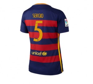 Camiseta nueva del Barcelona 2015/2016 Equipacion Numero 05 Mujer Primera