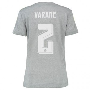 Camiseta nueva Real Madrid Mujer VARANE Equipacion Segunda 2015/2016