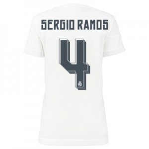 Camiseta Real Madrid SERGIO R Primera Equipacion 2015/2016 Mujer