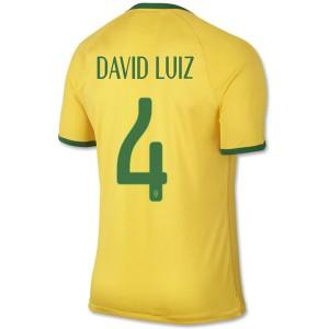 Camiseta nueva Brasil de la Seleccion David Luiz Primera WC2014