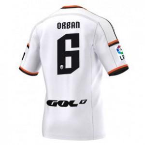 Camiseta Valencia Lucas Orban Primera Equipacion 2014/2015