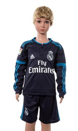 Camiseta nueva del Real Madrid 2015/2016 Manga Larga Niños