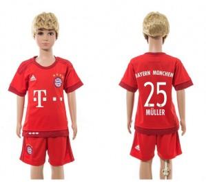 Camiseta nueva Bayern Munich Niños 25 Home 2015/2016