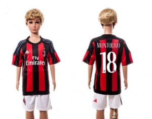 Niños Camiseta del #18 AC Milan Home 2015/2016
