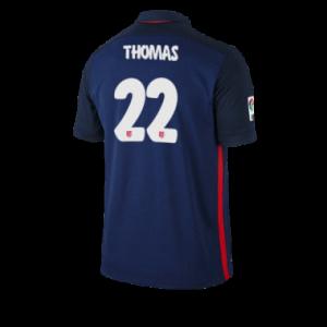 Camiseta nueva Atletico Madrid THOMAS Equipacion Segunda 2015/2016
