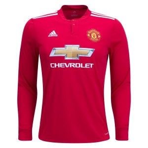 Camiseta Manchester United Home Long Sleeve 2017/2018